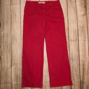 J. Crew Pink Chino Wide Leg Pant 8 Regular EUC!